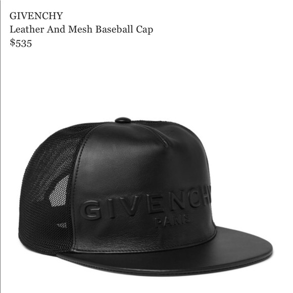 Givenchy Accessories - Givenchy leather cap 1233ad0ca00